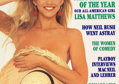 Lisa Matthews, Playmate Of The Year 1991, April Playmate 1990